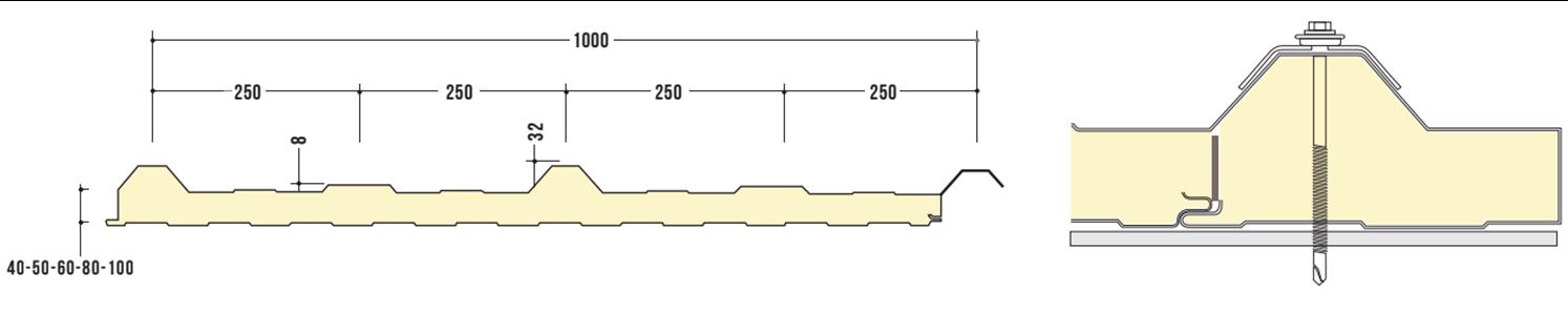 קיר בידוד מבודד דגם 1000 JR3