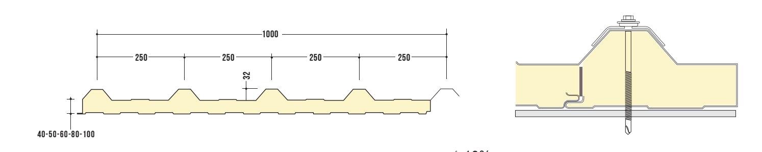 קיר בידוד מבודד דגם 1000 JR5