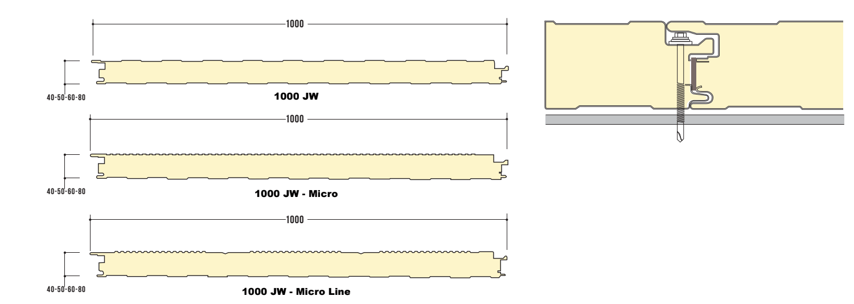 קיר בידוד מבודד דגם 1000 Jw